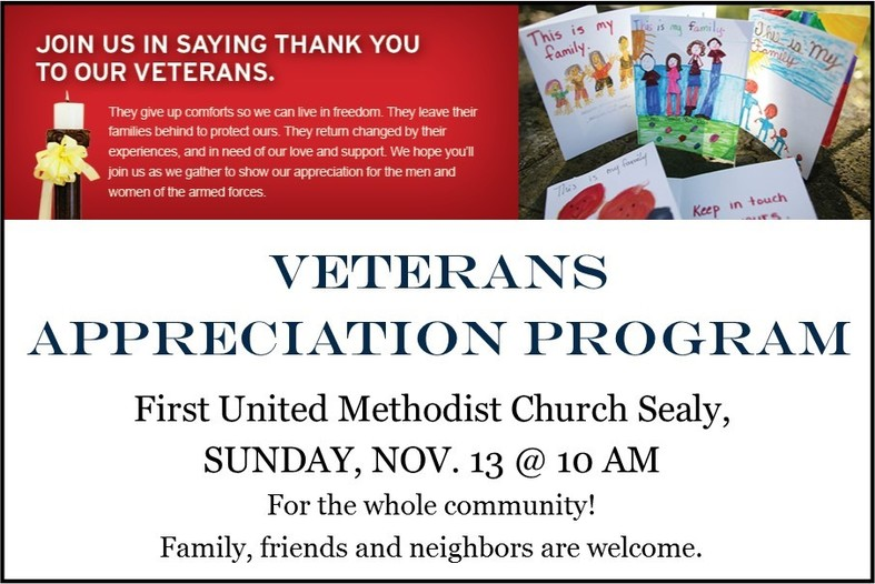 Veterans recognition first umc of sealy sealy first united methodist church held a very special veterans appreciation program sunday nov 13 at 10 am as a church we honored and gave thanks to altavistaventures Images